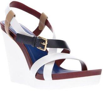 Jil Sander colour block wedge sandal