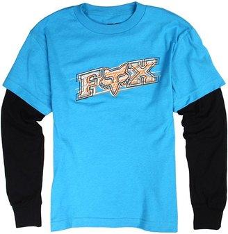 Fox Chemistry 2Fer L/S Pullover (Big Kids) (Electric Blue/Black) - Apparel