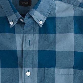 J.Crew Slim Secret Wash shirt in oversize gingham
