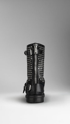 Burberry Studded Leather Boots