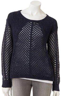Rock & Republic lurex open-work sweater - women's