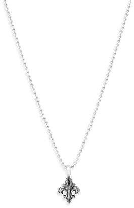 Lagos Sterling Silver Fleur de Lis Pendant Necklace