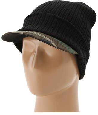 New Era Brim Whip Knit (Black/Woodland Camo) - Hats