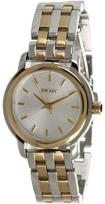 DKNY Three-Hand Two-Tone Watch NY8601 (Two Tone) - Jewelry
