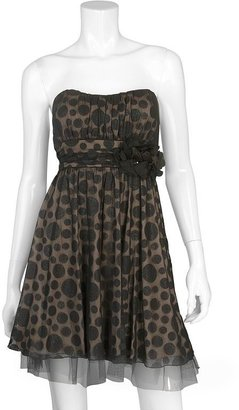 Iz Byer california polka-dot foil dress - juniors