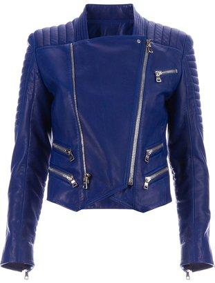 Balmain lambskin biker jacket