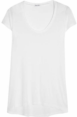 Splendid - Cotton And Modal-blend Jersey T-shirt - White $55 thestylecure.com