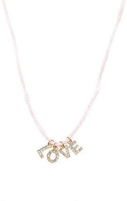 Delia's Pave Love Charm Bracelet