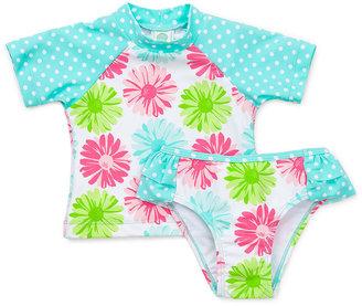 Little Me Baby Girls' 2-Piece Daisy Rashguard & Swim Bottoms Set