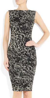 La Petite S***** Printed stretch linen-blend dress