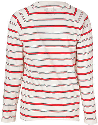 Marc Jacobs White/Red Cotton Graphic Print Long Sleeve T-Shirt
