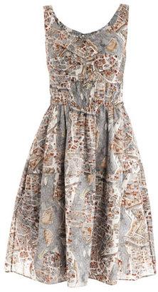 Carven Paris-print cotton dress