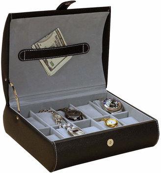 Parker FINE JEWELRY Mele & Co. Black Faux Leather Watch Case
