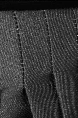 Rochas Velvet and pleated satin-twill skirt