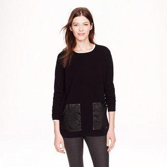 J.Crew Merino leather-pocket sweater