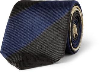 Acne Striped Woven-Silk Tie
