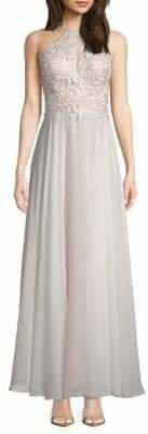 Xscape Evenings Chiffon Floral Lace Gown