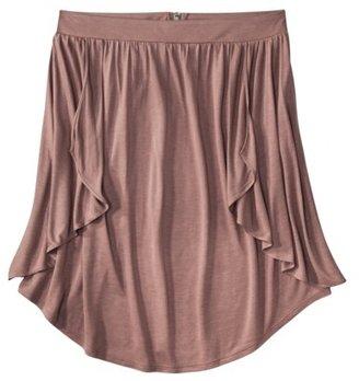 Mossimo Women's Zippered Peplum Skirt - Assorted Colors