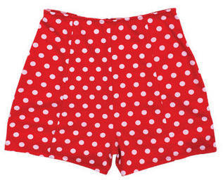 Delia's Red High Waist Polka Dot Short