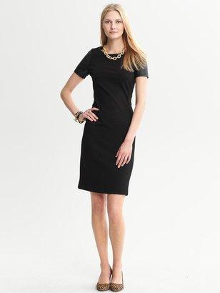 Banana Republic Black Ponte-Knit Dress