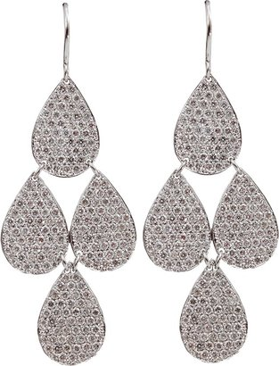 Irene Neuwirth JEWELRY Pave Four-Drop Chandelier Earrings