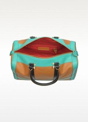 MySuelly Alex Large Color Block Leather Satchel