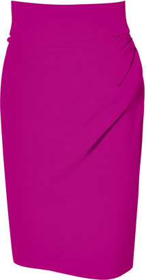 Sophie Theallet Orchid 4-Ply Silk Crepe Pencil Skirt