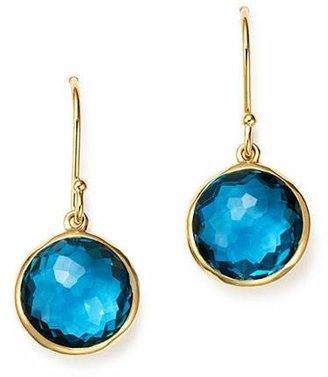 Ippolita 18K Gold Lollipop Earrings in London Blue Topaz