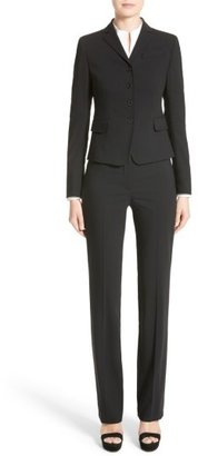Akris Punto Women's 'Madison' Straight Leg Wool Trousers