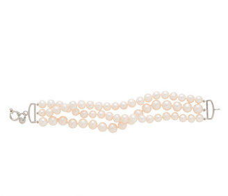 J.Crew Collection twisted triple-strand pearl bracelet