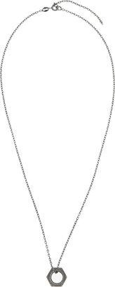 Kris Van Assche Krisvanassche Silver Nut Ring Necklace