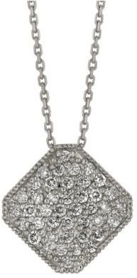 Lord & Taylor Diamond Pendant in 14 Kt. White Gold