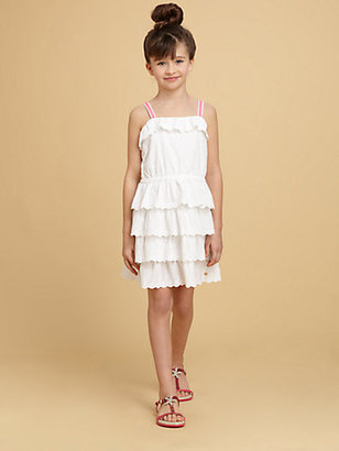 Juicy Couture Girl's Ruffled Eyelet Dress
