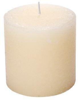 """Sur La Table Beige Pillar Candle, 3"""" x 3"""""""