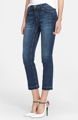 Women's Current/elliott 'The Cropped Straight' Let Out Hem Jeans $228 thestylecure.com