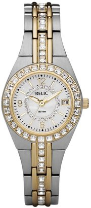 Relic by Fossil Women's Wet Glitz Crystal Two Tone Stainless Steel Watch