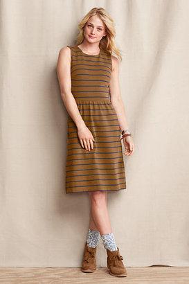 Lands' End Women's Sleeveless Heritage Jersey Dress