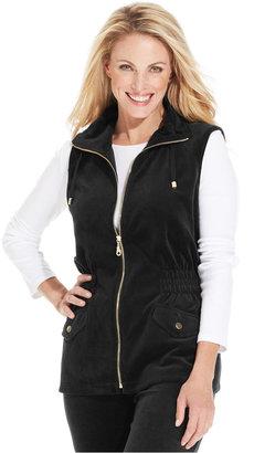 Charter Club Jacket, Sleeveless Velour Anorak Vest
