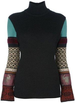 Jean Paul Gaultier Vintage appliqué knit jumper