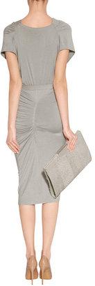 Donna Karan Hemp Draped Jersey Dress with Belt