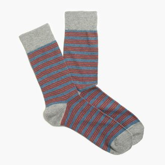 J.Crew Triple narrow-striped socks