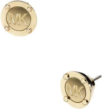 Michael Kors Astor Stud Logo Earrings, Golden