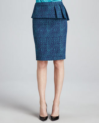 T Tahari Austen Pleated-Peplum Skirt