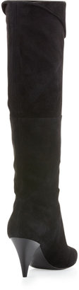 Belle by Sigerson Morrison Paneled Suede Boot, Black