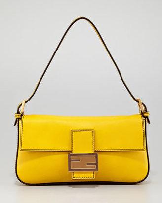Fendi Leather Baguette Bag, Chantilly