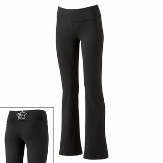 Up Star One step fold-over yoga pants - juniors