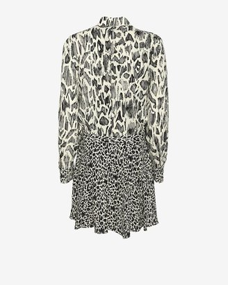 Derek Lam 10 Crosby Exclusive Plisse Animal Print Shirtdress