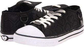 Juicy Couture Bari Kid (Toddler/Youth) (Blck Quilted Satin) - Footwear