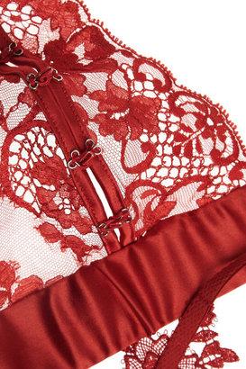 La Perla El Color Rojo lace and satin soft-cup bra