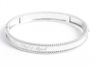Van Cleef & Arpels excellent (EX) Stunning Authentic White Gold Perlee Signature Bracelet - Small Model